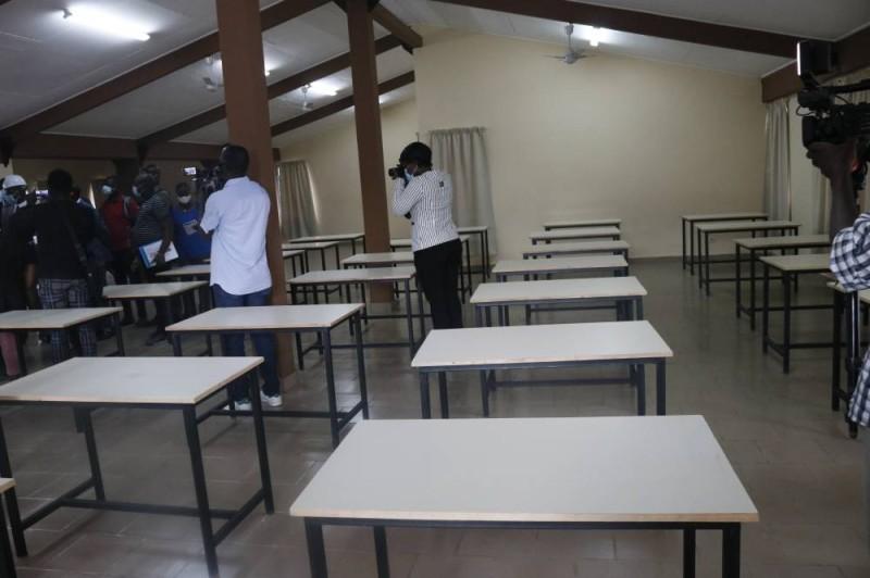 La salle d'étude de la cité d'Abobo. (Bavane)