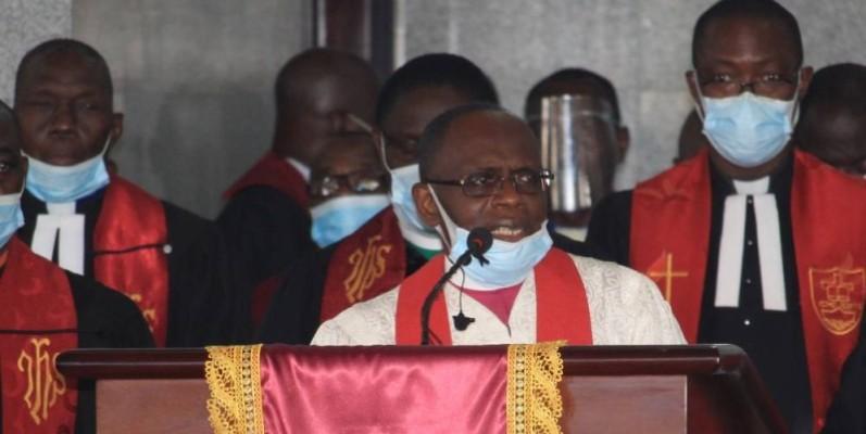 Le Bishop Benjamin Boni et l'église méthodiste appellent au calme dans le pays. (DR)