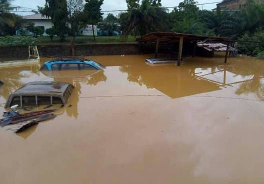 Un garage sous les eaux. (DR)