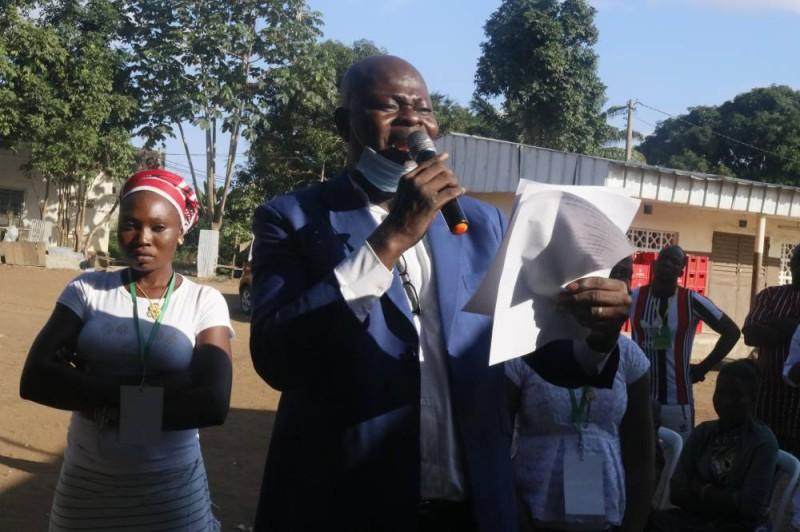 Zinsoni Marcel, secrétaire général de la formation politique de l'Upc en Côte d'Ivoire (Tamy Florence)