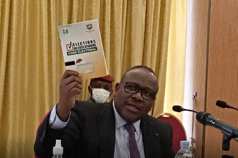 Le président de la Commission électorale indépendante, Ibrahime Kuibiert Coulibaly (DR)