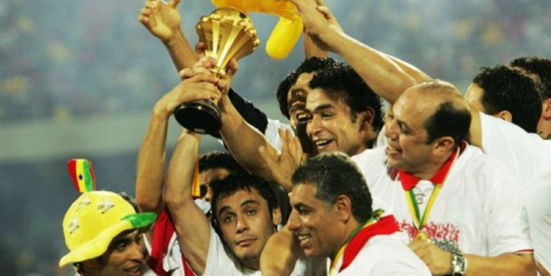 Les Pharaons lors de la Can 2010 remportée en Angola. (DR)