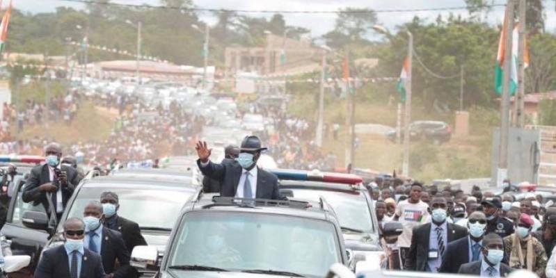 Le Président Ouattara a entamé une visite d'Etat dans le Moronou, ce mercredi. (Dr)