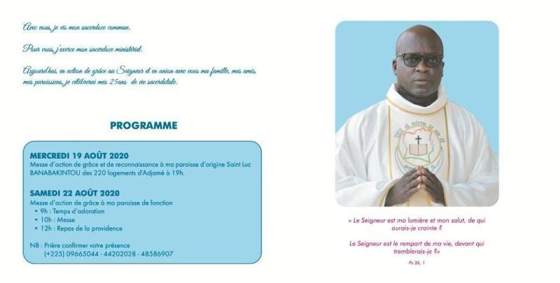 L'Abbé Augustin Obrou a été marqué à vie par le décès du père Jean Sinsin Bayo. (Dr)