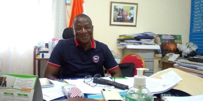 Ouattara Bakary, proviseur du lycée moderne Dominique Ouattara de Séguéla. (DR)