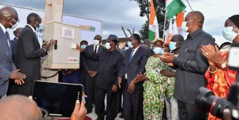 le Président de la République, Alassane Ouattara, a mis sous tension le village de Nanan Assouakro dans la sous-préfecture de Bongouanou. (DR)