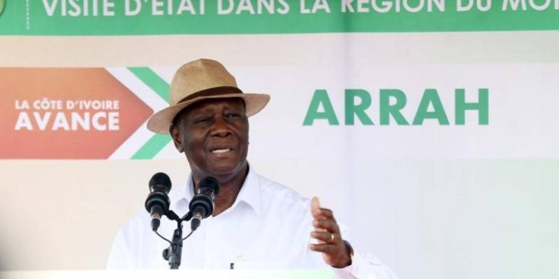 Le Président Ouattara a animé son premier meeting dans le Moronou, à Arrah ce jeudi. (Dr)
