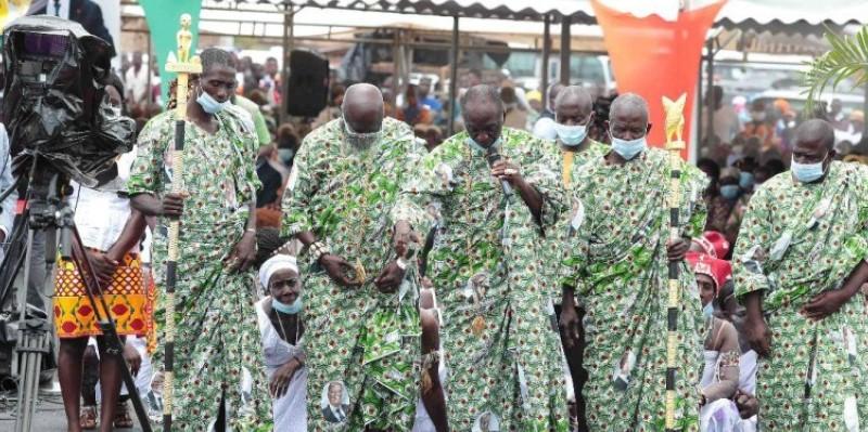 Les chefs traditionnels ont effectué nombreux le déplacement dans la localité. (Dr)