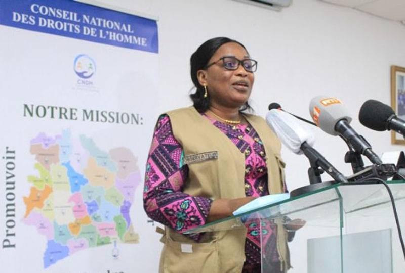 La présidente du Conseil national des droits de l'homme (Cndh), Mme Namizata Sangaré (DR)