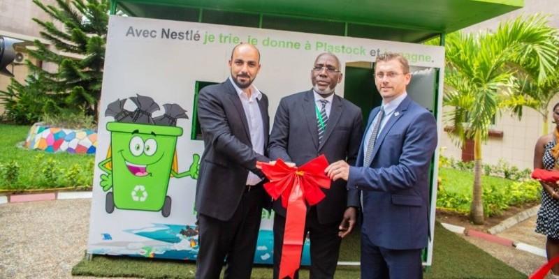 La gestion des déchets, une priorité pour les responsables de Nestlé Côte d'Ivoire. (Dr)