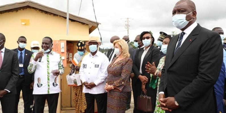 Le Président Ouattara a mis sous tension 11 quartiers de M'Batto. (Dr)