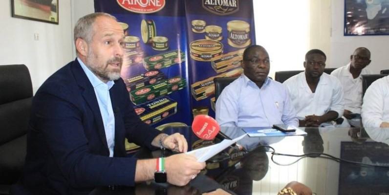 Le président directeur général, Sergio Tommasini (à gauche) et Sika Mambo (à droite), Dga, ont co-animé la conférence de presse. (DR)