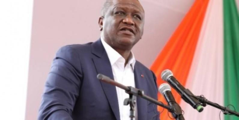 Hamed Bakayoko, Premier ministre, s'est adressé aux jeunes de Côte d'Ivoire. (Sébastien Kouassi)