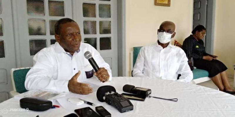René-Pierre Anouma a fait un plaidoyer pour le retour d'une paix durable en Côte d'Ivoire. (DR)