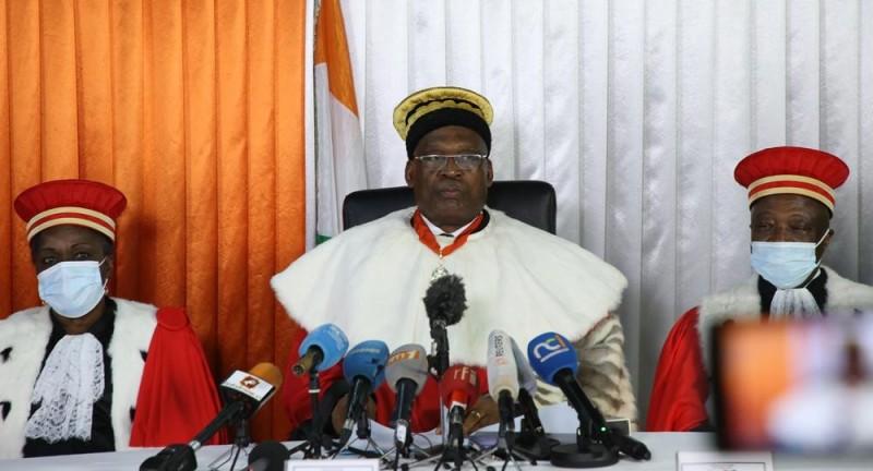Mamadou Koné, ancien ministre, président du Conseil constitutionnel.