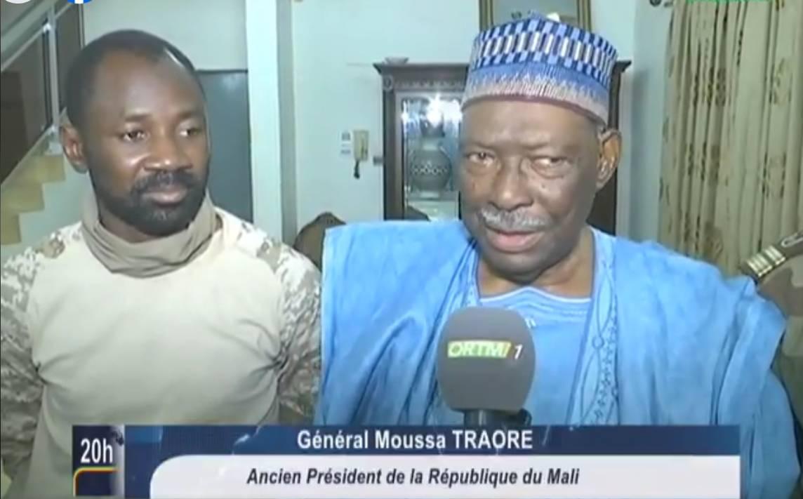 Le junte de la junte militaire, le Colonel Goita et l'ex-Chef de l'Etat, le Général Moussa Traoré