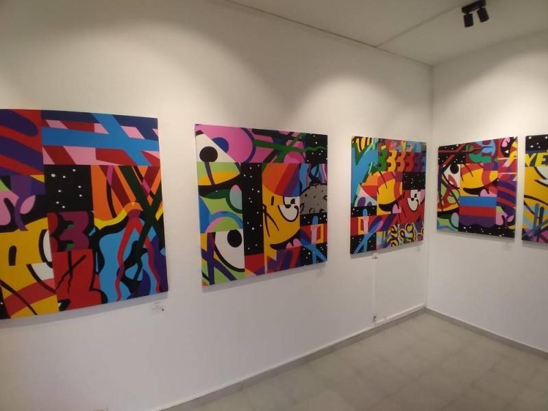 Galerie art'Time, une vue des œuvres de Barnabé. (DR)