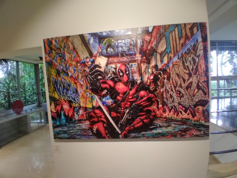 Une oeuvre de Woleck, exposée à la galerie Art'Time (DR)