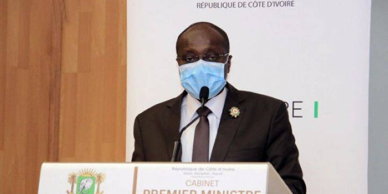 Le président de la Chambre de commerce et d'industrie de Côte d'Ivoire, Faman Touré, a porté la voix du secteur privé devant le Premier ministre Hamed Bakayoko. (Dr)