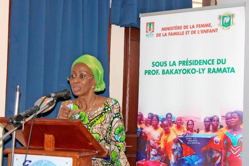 La ministre de la Femme, de la Famille et de l'Enfant, Bakayoko-Ly Ramata
