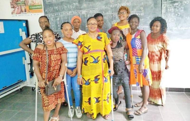 Des étudiantes en situation de handicap avec le sourire gardent espoir en un lendemain meilleur. (Photos: Francis Kouamé)