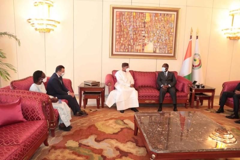La rencontre du Dr Mohamed Ibn Chambas avec le Président ivoirien, Alassane Ouattara (DR)