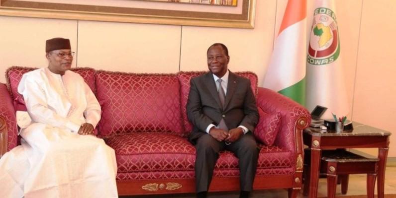 Le Chef de l'Etat, Alassane Ouattara (à droite), en compagnie du Représentant spécial du secrétaire général de l'Onu. (Dr)