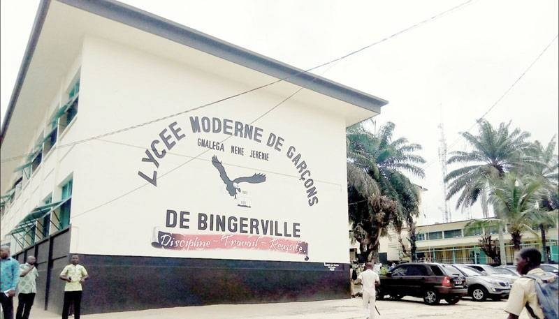 Une vue du Lycée de garçons de Bingerville. (DR)