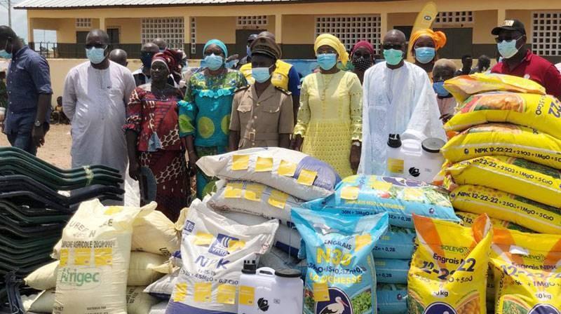 Quarante coopératives de femmes de Boundiali ont reçu du matériel de la part de la Fondation MTN-CI. (DR)
