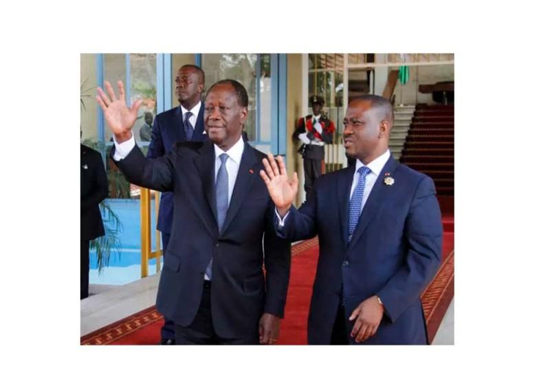 Le Président Alassane Ouattara et son ex-Premier ministre, Guillaume Soro (DR)