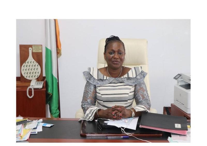 Mme Namizata Sangaré, présidente du Conseil naional des droits de l'homme (CNDH)