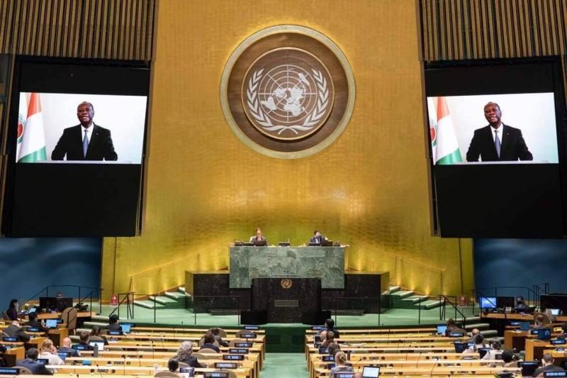 Déclaration d'Alassane Ouattara, président de la République de Côte d'Ivoire à la  75è session de l'Assemblée générale des Nations unies :
