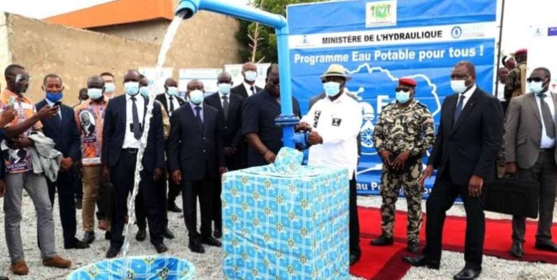 Alassane Ouattara, le Chef de l'Etat, lors de l'inauguration. (DR)