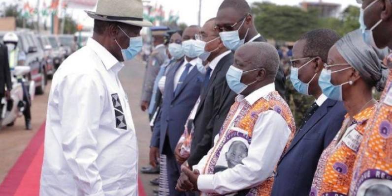 En visite d'Etat dans la Marahoué, Alassane Ouattara prône la paix à Zuénoula. (DR)