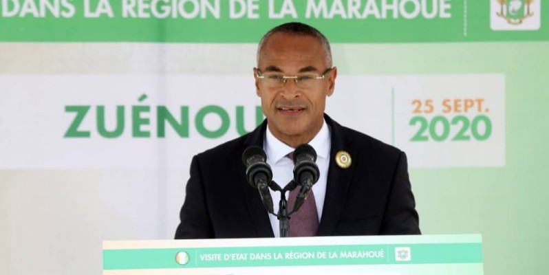 Le maire de Zuenoula, Djè Bi Djè Vamy Olivier, exprimé la joie de ses administrés d'accueillir le Chef de l'État. (Honoré Bosson)
