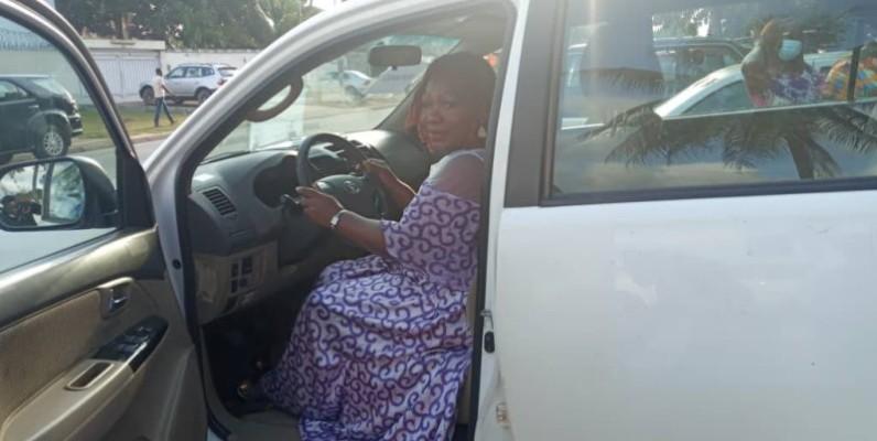 Le geste a été hautement salué par les bénéficiaires dont Bintou Sanogo (Pca du Repmasci). (Dr)
