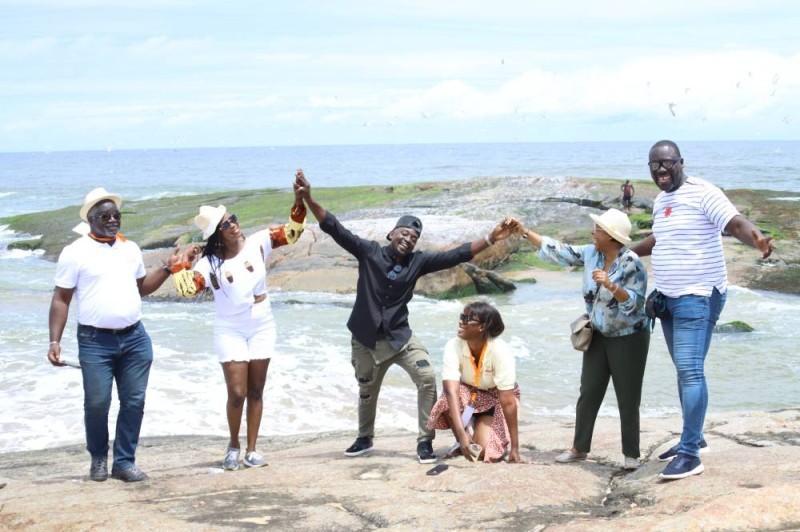 Les piscines naturelles et les  plages vierges de Taboualé ont émerveillé les invités de Côte d'Ivoire tourisme (DR)