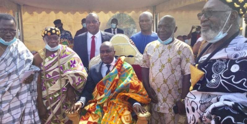 Le ministre Sidiki Diakité, après son intronisation. (DR)