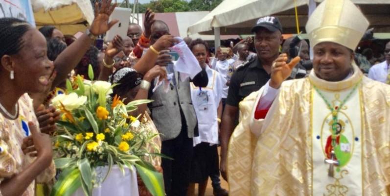 L'évêque Essoh Yedoh a célébré l'anniversaire de sa consécration. (DR)