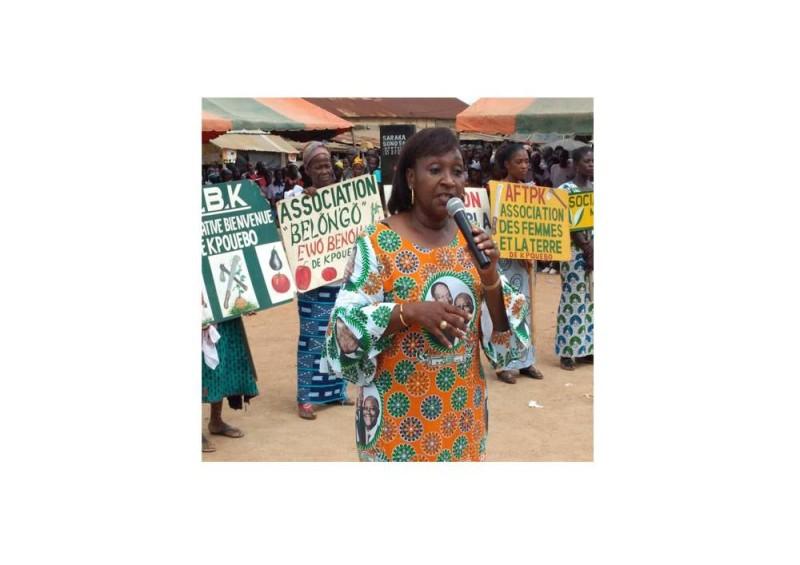 Dr Raymonde Goudou-Coffie, oordonnatrice régionale en chef du Rassemblement des houphouetistes pour la démocratie et la paix (Rhdp)