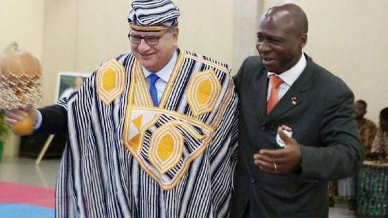 Il y avait une belle complicité entre le patron du Taekwondo africain (à gauche) et le président Bamba Cheick Daniel. (DR)