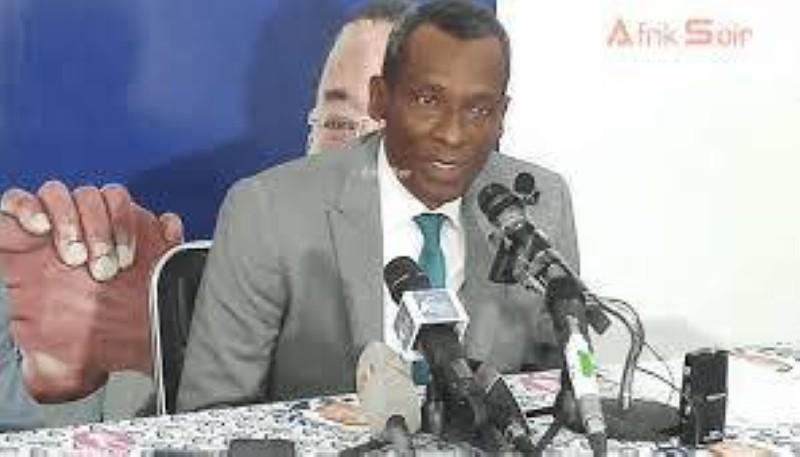 Issiaka Sangaré, Sg du Fpi, a lu la déclaration au nom de l'Afd et de la Lmp. (DR)