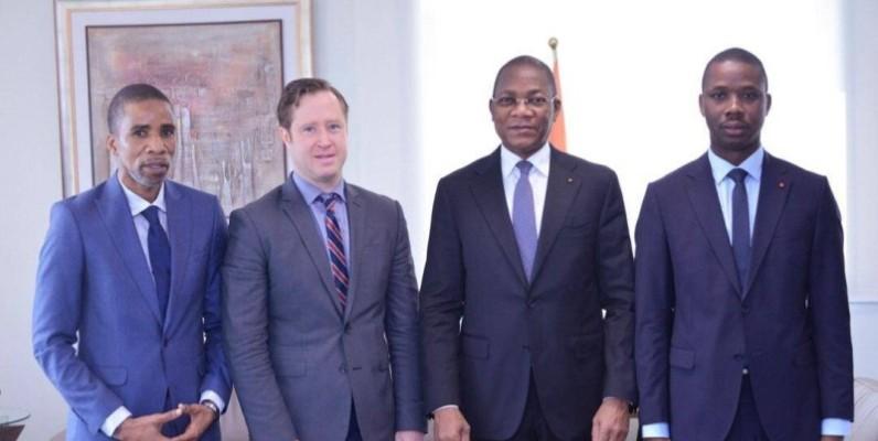 Mohamed Kéita, Pdg de ABD Group (à l'extrême gauche), est toujours en contact avec les autorités ivoiriennes. (DR)