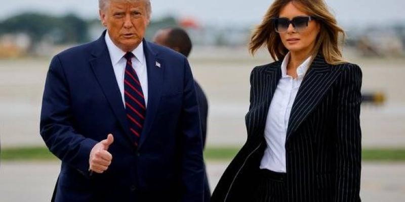 Donald Trump et son épouse en confinement à la Maison blanche. (Dr)