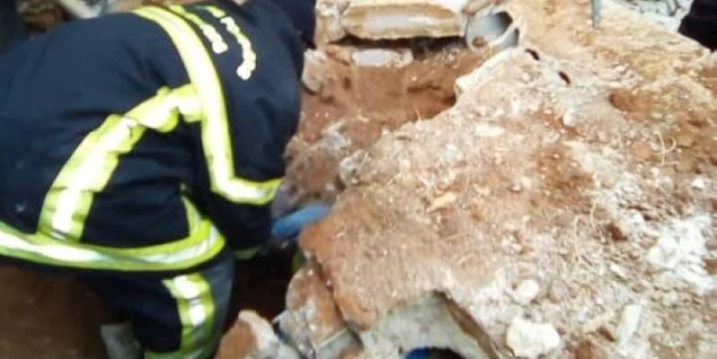Les pompiers ont aussi retiré un blessé des décombres. (Gspm)