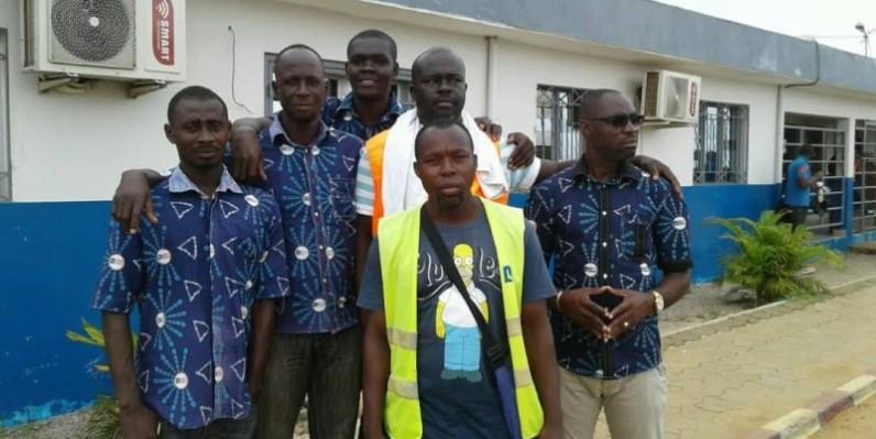 Des membres du syndicat de Côte d'Ivoire Logistique. (DR)