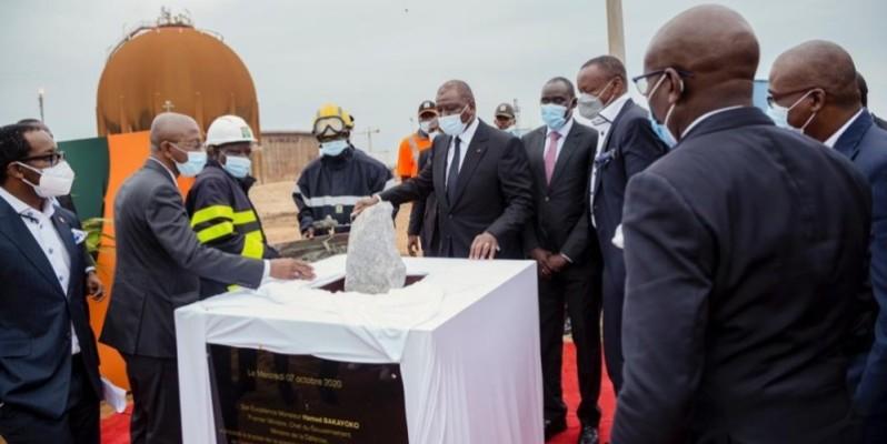 Le Premier ministre, ministre de la Défense, Hamed Bakayoko, a procédé au lancement des travaux. (DR)