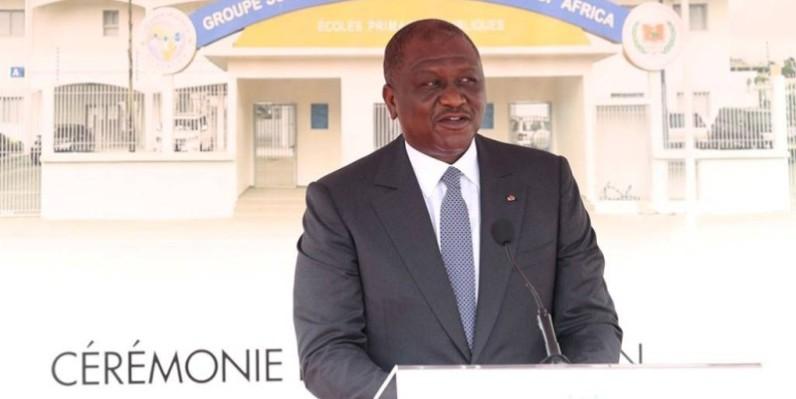 Le Premier ministre Hamed Bakayoko et maire de la commune d'Abobo. (DR)