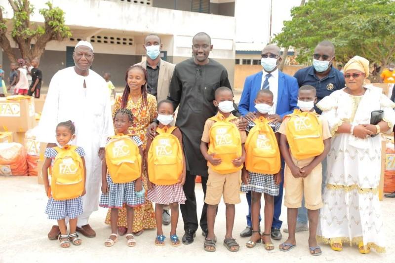 Les bénéficiaires ont exprimé leur gratitude au donateur. (DR)