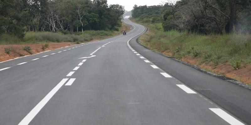 Une vue de la nouvelle voie Odienné-Gbéléban. (Photos : Poro Dagnogo)